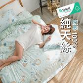 【小日常寢居】#TCL39#奧地利100%TENCEL涼感40支純天絲6尺雙人加大床包枕套三件組(不含被套)床單