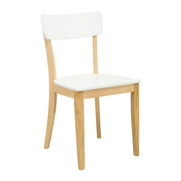 【森可家居】迪拉白色餐椅 7JX246-2 無印北歐風