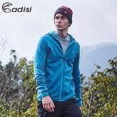 ADISI 男連帽Power Stretch pro保暖外套AJ1621146 (M~2XL) / 城市綠洲專賣(抗臭、四面彈、透氣、乾爽)