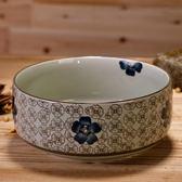 陶瓷餐具 陶瓷碗韓式日式釉下彩手繪陶瓷 8英寸大湯碗 碗餐具 莎瓦迪卡