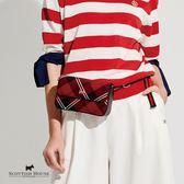 《紅黑格》肩背/腰包兩用式格紋小包 Scottish House【AG6401】