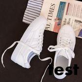 小白鞋 百搭韓版平底系帶休閒鞋女 艾米潮品館