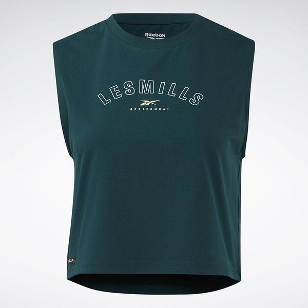 REEBOK LES MILLS® X BODYCOMBAT 女裝 背心 訓練 透氣 短版 綠【運動世界】GN5962
