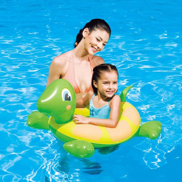 《Bestway》烏龜頭像造型泳圈--黃色、綠色二選一(69-03614-1)