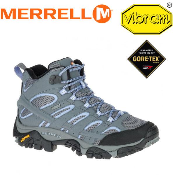 【MERRELL 美國 女款 MOAB 2 MID GORE-TEX《灰/淺紫》】ML06066/休閒鞋/登山鞋/運動鞋★滿額送