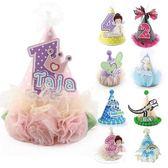 派對裝飾品/定制姓名年齡兒童生日帽子寶寶一周歲派對布置裝飾成人裝扮公主 TC原創館