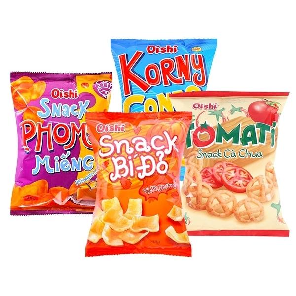 菲律賓 Oishi 南瓜味(烤牛肉)/起司味/番茄味/玉米 脆片(1包入) 款式可選【小三美日】