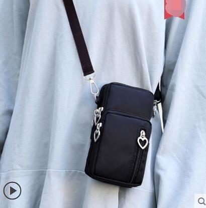 斜挎媽媽迷你鑰匙包散步包布袋