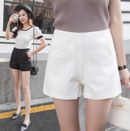 【TU19】韓國高腰大碼寬鬆A字闊腿短褲女外穿顯瘦百搭西裝休閒褲632