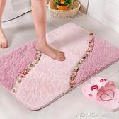 可愛韓式田園地毯 繡花方形臥室地墊門墊 書房衛生間防滑腳墊 潔思米 IGO