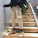 ins潮牌新款工裝褲男cargo寬鬆直筒闊腿hiphop港風chic褲子