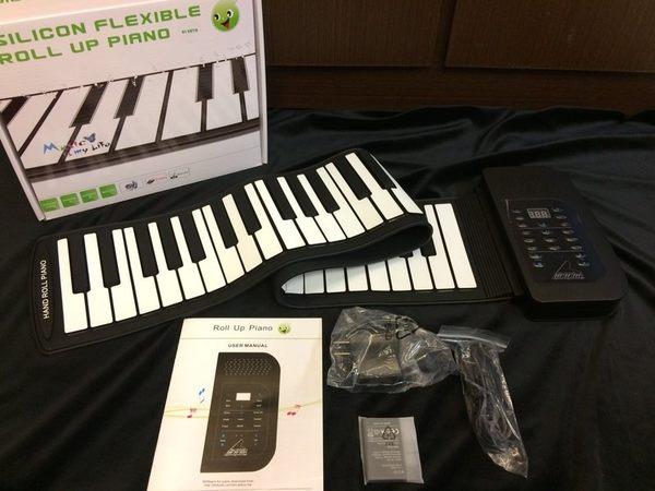 【金聲樂器】61鍵 手卷式電鋼琴 無毒矽膠 攜帶方便