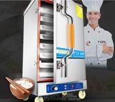 蒸包子機 雅竹秀蒸飯櫃商用電蒸箱蒸飯車燃氣蒸菜機饅頭餃子機蒸包爐全自動  DF  免運