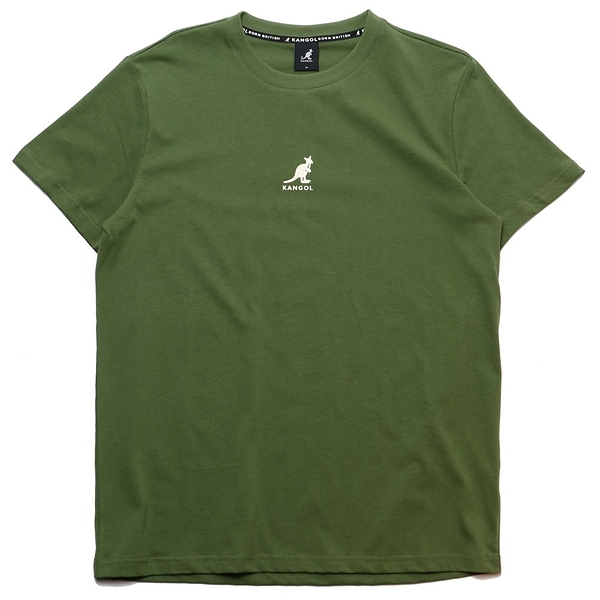 KANGOL 短袖 短T 綠 胸前小LOGO 背後文字 袋鼠 棉 男 (布魯克林) 6021101172