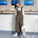 背帶褲 背帶褲女韓版寬鬆2021新款春秋季洋氣學生可愛百搭減齡工裝褲子潮 愛丫 新品