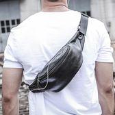 輕騎者男包腰包男士多功能胸包PU皮質收銀戶外休閒運動單肩側背包  遇見生活