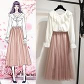 洋裝 春季連身裙新款 2020春裝女裝春季法國小眾兩件套很仙的套裝女春秋學生