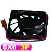 PC機殼風扇 滾珠軸承 6X6 (3P)
