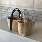 編織包 新款韓國草編手提包沙灘包手工編織渡假女包