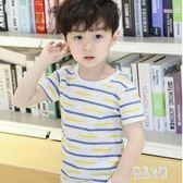 男童夏裝簡約t恤2019新款兒童夏季短袖上衣棉質半袖體恤韓版童裝潮CY618【優品良鋪】