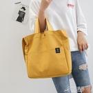 帆布包 2021夏季新款帆布包包女韓版單肩斜背包托特包女士背包一件 16原本良品