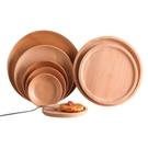 日式木餐盤子ins創意木質托盤早餐盤甜品盤快餐盤家用茶具收納盤