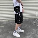 休閒短褲 排扣短褲男潮流韓版寬鬆運動籃球訓練褲子2021夏季新款薄款五分褲
