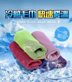 (3入)雙色冷感極凍降溫冰涼巾 涼感巾 戶外 露營 運動