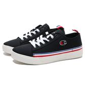 CHAMPION 休閒鞋 黑白 白藍紅條紋 帆布鞋 女 (布魯克林) 912220111