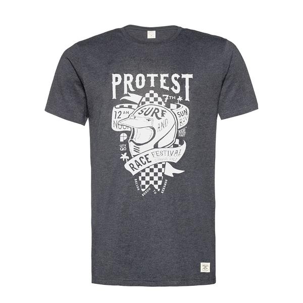PROTEST 男 短袖T恤 (真實黑) FESTIVAL T-SHIRT