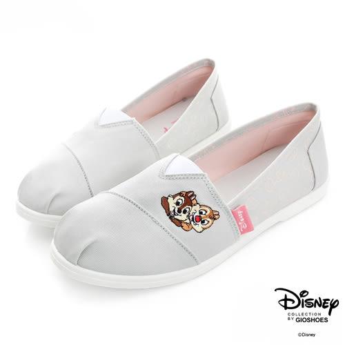 Disney 心動瞬間 奇奇蒂蒂電繡懶人鞋-灰