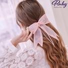 髮飾 刺繡蝴蝶結網紗髮夾-Ruby s 露比午茶