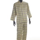 BURBERRY經典格紋純棉休閒家居服(淺駝綠色)085105-5