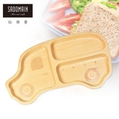 【仙德曼 SADOMAIN】山毛櫸兒童餐盤-叭叭車