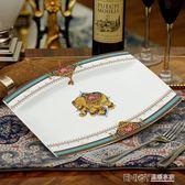 碟子家用骨瓷魚盤子陶瓷創意12英寸長方形歐式蒸烤魚碟子微波爐魚菜盤 溫暖享家