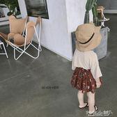 女童半身裙 短裙韓版女童小清新印花休閒裙子潮 傾城小鋪