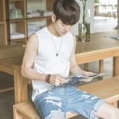 背心 純棉夏季青少年坎肩男生運動韓版修身型打底寬鬆背心潮流無袖T恤 8號店