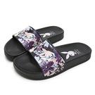 PLAYBOY 花卉秘境 寬帶印刷休閒拖鞋-黑(YT602)