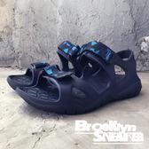 Air walk 深藍 迷彩 涼鞋 拖鞋  男女 情侶鞋 (布魯克林) 2018/7月 A755230-180