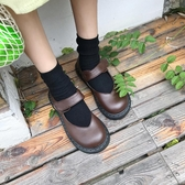春季新款原宿風ulzzang娃娃鞋日系森女風學生軟妹小皮鞋百搭 潮流前線