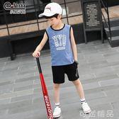 童裝男童夏裝套裝夏季新款兒童短袖兩件套無袖背心   可然精品鞋櫃