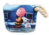 【卡漫城】 Snoopy 查理 化妝包 麻繩 可觸控 ㊣版 智慧型 手機袋 史努比 萬用包 鉛筆袋 史奴比