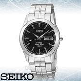 SEIKO 精工手錶專賣店   SGG715P1 簡約時尚石英男錶 不鏽鋼錶帶 黑色錶面 藍寶石水晶玻璃鏡面