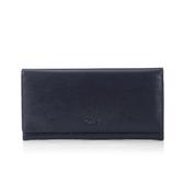 《高仕皮包》【免運費】OMC  原皮質感簡約式長夾.伯爵藍OMC95113-14