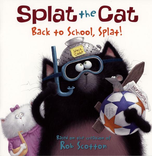 【麥克書店】SPLAT THE CAT: BACK TO SCHOOL, SPLAT! / 平裝繪本《主題: 上學去 Goes to School》