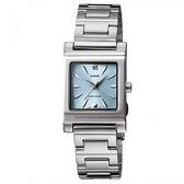 【CASIO】高雅典藏方形不鏽鋼腕錶-灰藍(LTP-1237D-2A2)