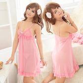 情趣內衣誘惑套裝蕾絲花邊火辣薄紗吊帶睡裙性感睡衣女中裙