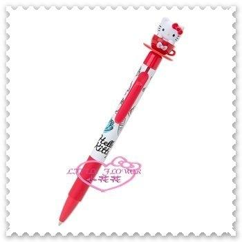 ♥小花花日本精品♥ Hello Kitty 日本 紅/白色 甜點 蛋糕 下午茶 咖啡杯造型 原子筆 56871500