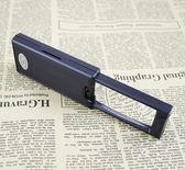 放大鏡B'BOX抽拉便攜式放大鏡2.5倍/45倍手持閱讀放大鏡高倍鏡帶LED驗鈔 喵小姐