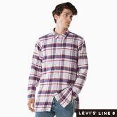 [第2件1折]Levis 男款 格紋襯衫 / Oversize寬鬆長版